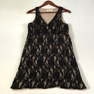 Anthropologie Pins And Needles Lace Overlay Dress
